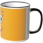 JUNIWORDS Tasse lustiges Gesicht - orange