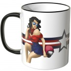 JUNIWORDS Tasse Pin Up Girl Motiv 1