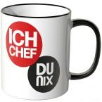 JUNIWORDS Tasse Ich Chef, Du nix. - Motiv 2