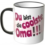 JUNIWORDS Tasse Du bist die coolste Oma!