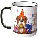 JUNIWORDS Tasse YEAH 17! mit mürrischer Hund