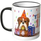 JUNIWORDS Tasse YEAH 18! mit mürrischer Hund