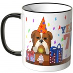 JUNIWORDS Tasse YEAH 70! mit mürrischer Hund