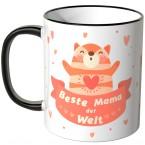 JUNIWORDS Tasse Beste Mama der Welt mit süßer Katze