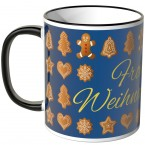 JUNIWORDS Tasse Frohe Weihnachten Lebkuchen - blau