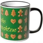 JUNIWORDS Tasse Frohe Weihnachten Lebkuchen - grün