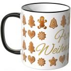 JUNIWORDS Tasse Frohe Weihnachten Lebkuchen - weiß