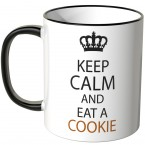 JUNIWORDS Tasse Keep calm and eat a cookie