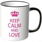 JUNIWORDS Tasse Keep calm and love
