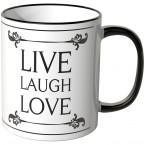 Live Laugh Love mit Schnörkeln