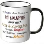 JUNIWORDS Tasse Der Besitzer dieser Tasse ist...