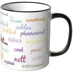 JUNIWORDS Tasse Du bist...mit vielen Komplimenten