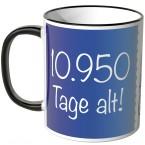 JUNIWORDS Tasse 10.950 Tage alt! (30 Jahre) - blau