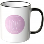 JUNIWORDS Tasse Love lila