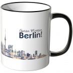 """JUNIWORDS Tasse """"Guten Morgen Berlin!"""" Skyline bei Nacht"""
