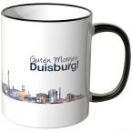 """JUNIWORDS Tasse """"Guten Morgen Duisburg!"""" Skyline bei Nacht"""