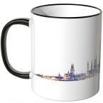 """JUNIWORDS Tasse """"Guten Morgen Wiesbaden!"""" Skyline bei Nacht"""