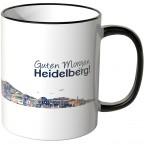 """JUNIWORDS Tasse """"Guten Morgen Heidelberg!"""" Skyline bei Nacht"""