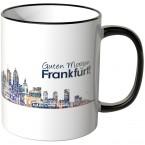 """JUNIWORDS Tasse """"Guten Morgen Frankfurt!"""" Skyline bei Nacht"""