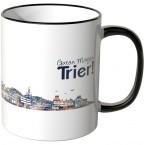 """JUNIWORDS Tasse """"Guten Morgen Trier!"""" Skyline bei Nacht"""
