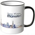 """JUNIWORDS Tasse """"Guten Morgen Münster!"""" Skyline bei Nacht"""