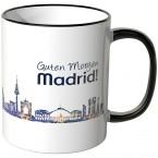 """JUNIWORDS Tasse """"Guten Morgen Madrid!"""" Skyline bei Nacht"""