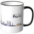 """JUNIWORDS Tasse """"Guten Morgen Paris!"""" Skyline bei Nacht"""