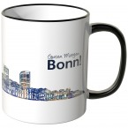 """JUNIWORDS Tasse """"Guten Morgen Bonn!"""" Skyline bei Nacht"""