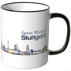 """JUNIWORDS Tasse """"Guten Morgen Stuttgart!"""" Skyline bei Nacht"""