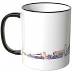 "JUNIWORDS Tasse ""Good Morning Miami!"" Skyline bei Nacht"