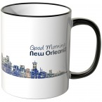 "JUNIWORDS Tasse ""Good Morning New Orleans!"" Skyline bei Nacht"