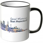 "JUNIWORDS Tasse ""Good Morning Dallas!"" Skyline bei Nacht"