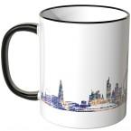 "JUNIWORDS Tasse ""Good Morning London!"" Skyline bei Nacht"