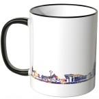 """JUNIWORDS Tasse """"Guten Morgen Aachen!"""" Skyline bei Nacht"""