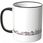 """JUNIWORDS Tasse """"Guten Morgen Amsterdam!"""" Skyline bei Nacht"""