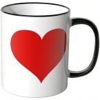 Großes Herz Tasse