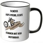 JUNIWORDS Tasse Scheiss aufs Pferd, echte Prinzessinen kommen mit dem Motorrad - 2