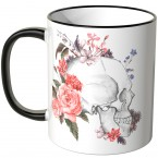 JUNIWORDS Tasse Skull with flowers - 2