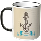 JUNIWORDS Tasse Anchor beige