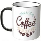 JUNIWORDS Tasse Fresh & Tasty Coffee