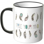 JUNIWORDS Tasse Free your mind.