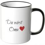JUNIWORDS Tasse Du wirst Oma