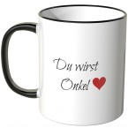 JUNIWORDS Tasse Du wirst Onkel
