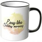 JUNIWORDS Tasse Easy like sunday morning