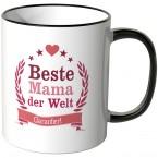 JUNIWORDS Tasse Beste Mama der Welt - garantiert