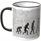 JUNIWORDS Tasse Evolution Selfie