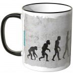 JUNIWORDS Tasse Evolution Schlagzeug