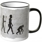 JUNIWORDS Tasse Evolution Affe