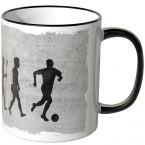 JUNIWORDS Tasse Evolution Fußball