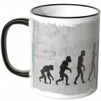 JUNIWORDS Tasse Evolution Gewichtheben